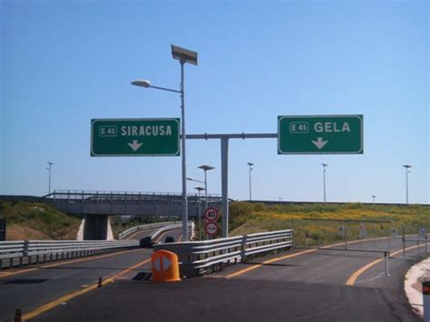 Auto Vella Gela by Autostrada Siracusa Gela Code In Direzione Avola