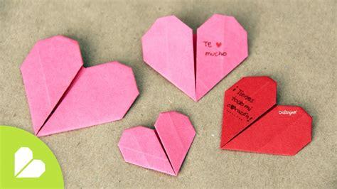 San Origami - corazones de origami para san valentin origami