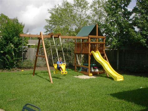 diy backyard playset triton diy wood fort swingset plans s backyard