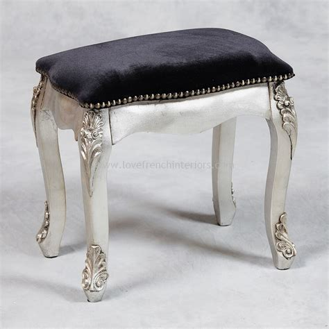 antique silver stool