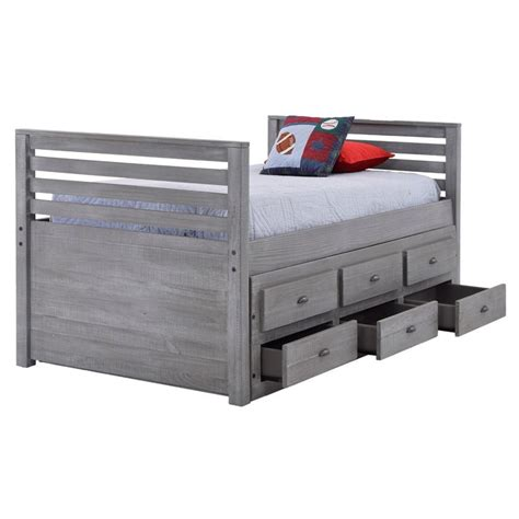 gray storage bed montauk gray twin storage captain bed el dorado furniture