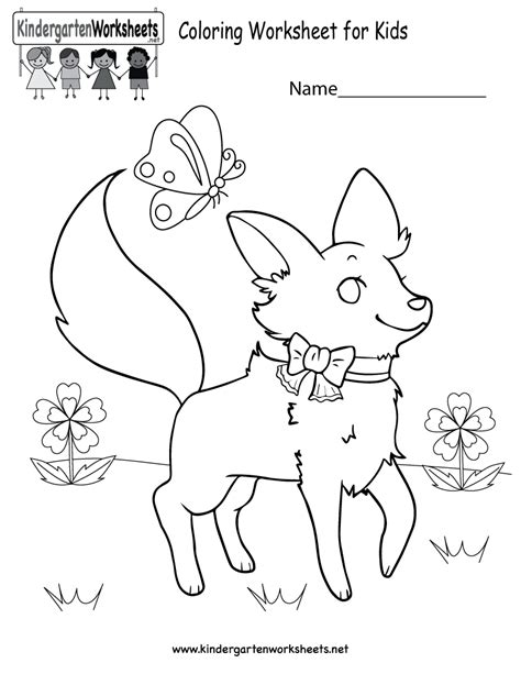 Coloring Work Sheets by Free Colouring Worksheets For Kindergarten Image Detail