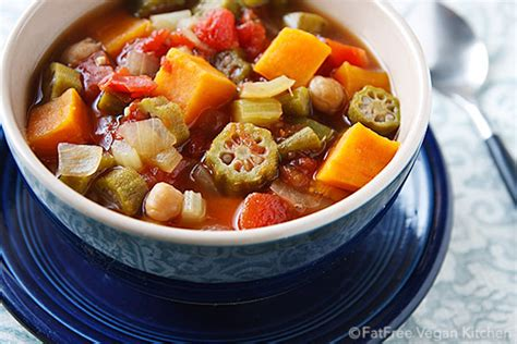 vegetables in gumbo sweet potato okra and chickpea gumbo recipe from
