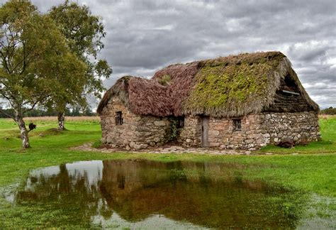 Cottages Moors by File Leanach Cottage Culloden Moor Jpg