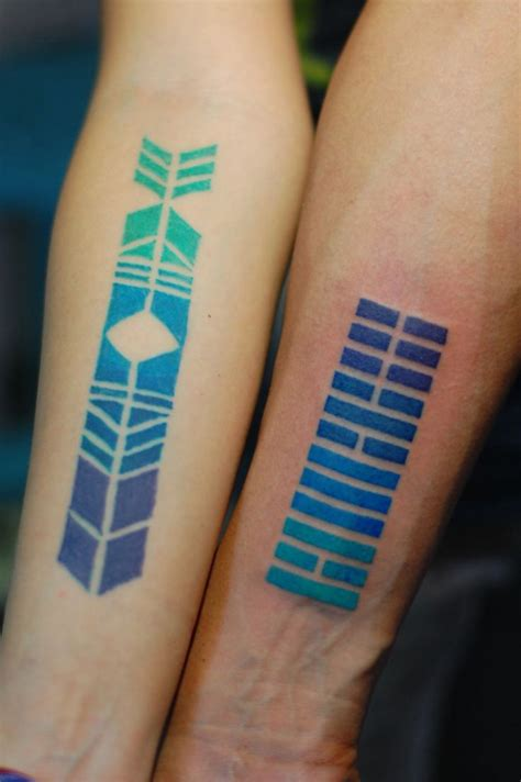colorful geometric tattoos color gradient geometric tattoos best design ideas