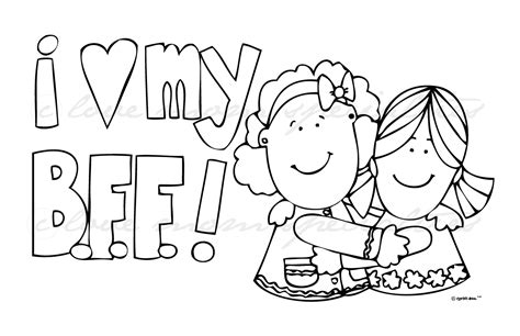 Bff Coloring Pages coloring sheets that say bff coloring pages