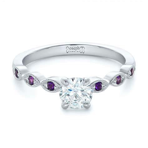 custom and amethyst engagement ring 102319