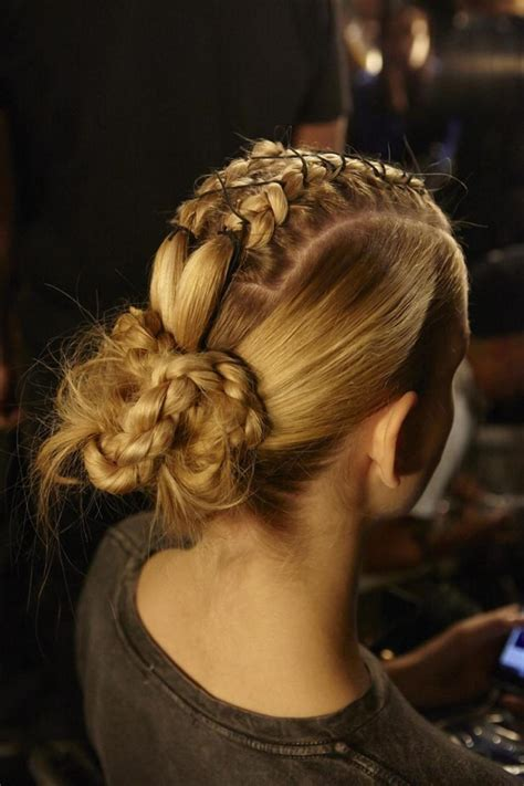 warrior long hair braids beauty trends from new york fashion week shows like