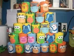 caritas de animales con latas bolsitas pinterest