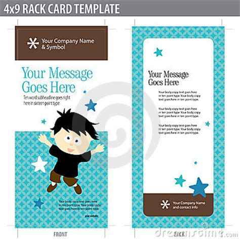 4 x 9 vertical rack cards templates 4x9 rack card template stock photos image 8937013