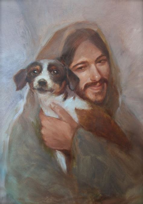 jesus in dogs safe in his everlasting arms jesus with small beautiful heavens and savior