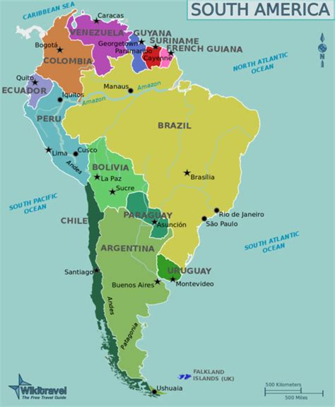 south america map by language south america americas wilder side vacation time awaits