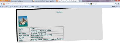 membuat html biodata sederhana heybahagia itu sederhana cara membuat biodata dengan xampp