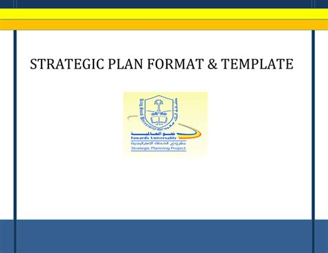 strategic plan template strategic plan format and template in word and pdf formats