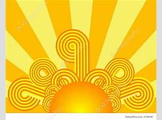 Weather: Retro Sunrise - Stock Illustration I1749190 at ... Free Clip Art Weather Pictures