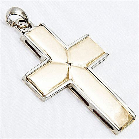 seagull gifts solid 9ct gold cross pendant with