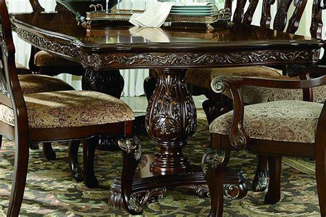 deryn park formal dining room table set deryn park cherry extendable leg dining room set from