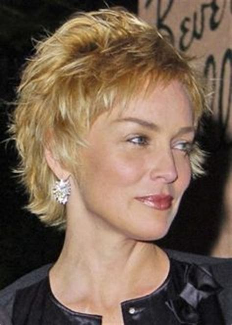 sharon stone hairband hairstyle for older women short style in warm mahogany