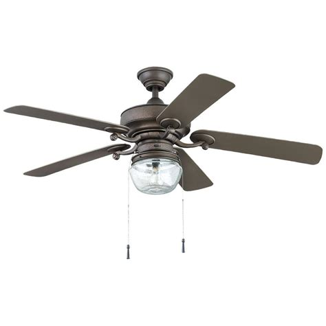 bronze outdoor ceiling fan home decorators collection bromley 52 in led indoor
