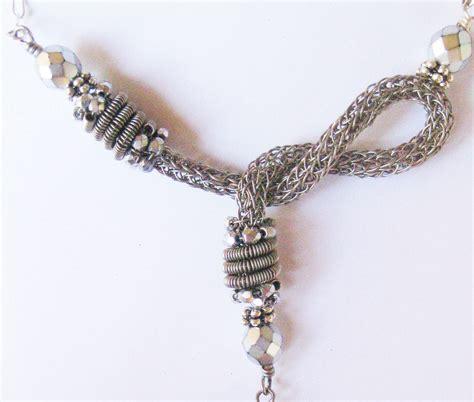 viking knit asymmetric viking knit necklace