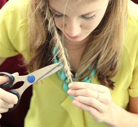 hair cutting ways for the ends how to trim split ends at home your beauty 411