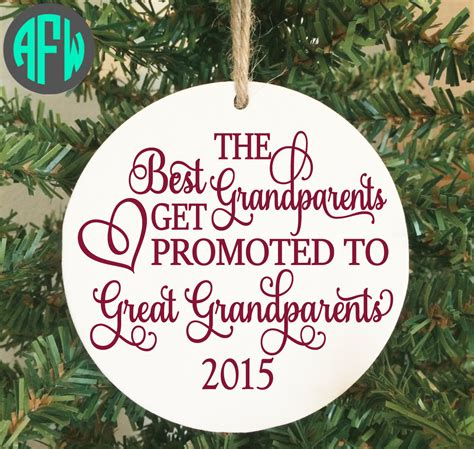 great grandparent first christmas ornament pregnancy