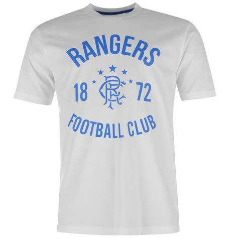 Tshirt 06 Alba Match Item glasgow rangers fc 1872 crew t shirt mens white football