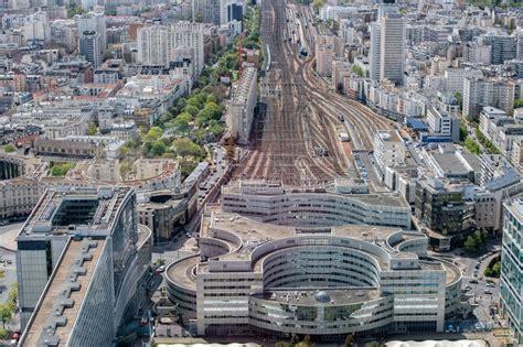 De Montparnasse Its Time by Montparnasse Rail Station View Aerial Landscape