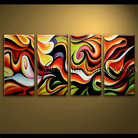 home decorating ideas painting large wall abstract painting home decoration