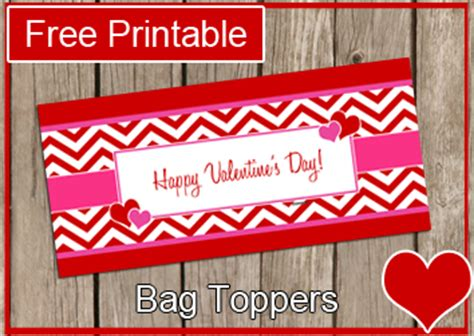 valentine bag toppers printable valentines day bag toppers free printable valentine s bag topper modern beautiful
