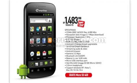 Hp Samsung Android Cdma harga computer and phone smartfren andro 4 hp android cdma