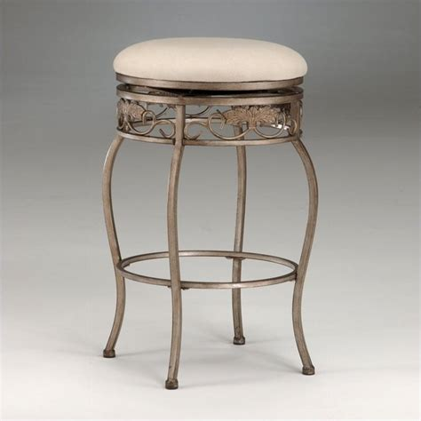 white backless swivel bar stool hillsdale bordeaux 30 quot backless swivel bronze white bar
