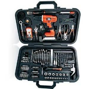 black and decker tool set black decker 20v lithium drill and home tool kit set with