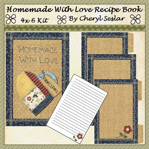 Handmade Recipe Books - handmade recipe book cake ideas and designs