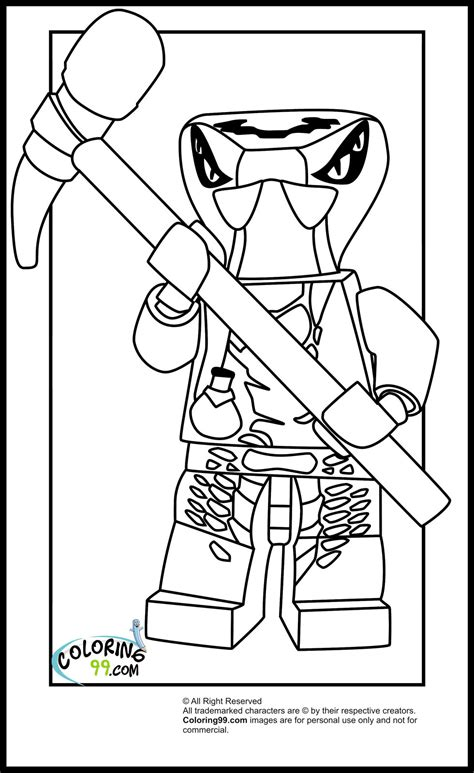 Ninjago Coloring Pages lego ninjago venomari coloring pages team colors