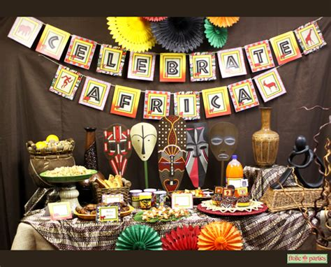 african themed decor celebrate africa printable party