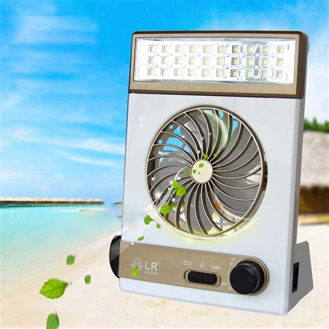 Ac Coller Led solar power ac rechageable 2 in 1 cing cool fan light tent led lantern cooler ebay