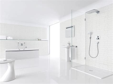 Bathroom Tiling Ideas Pictures by Bathroom In Total White Myhouseidea