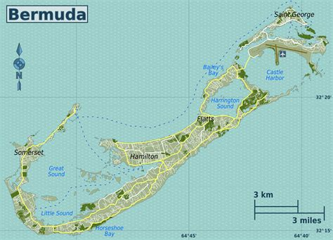 bermuda on a map detailed road map of bermuda bermuda detailed road map