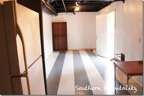 Painting stripes on concrete floor