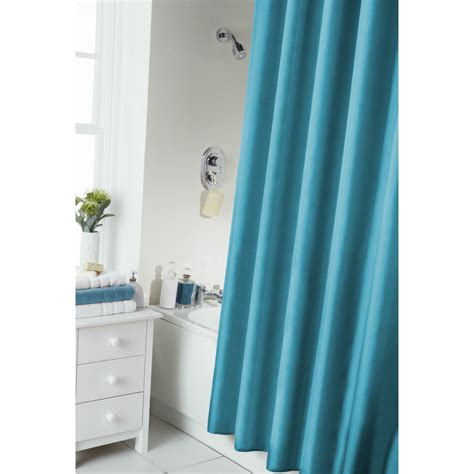 Modern Bathroom Shower Curtains Plain Modern Shower Bath Curtain With Rail Rings 8 Colours Bathroom Ebay