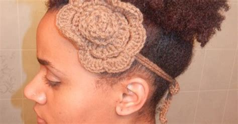 hairstyles with crochet headbands natural hair styles afro puff using her own hair with