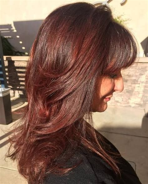 long haircuts with bangs and layers over 40 1904 best hairstyles for women over 40 images on pinterest