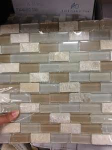 lowes kitchen tile backsplash american olean delfino icy mist mixed material mosaic indoor outdoor wall tile common 12