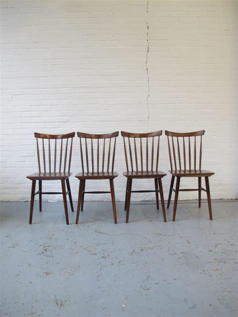 tweedehands pastoe stoel pastoe deense stijl donker teakhout spijlen stoelen uit de