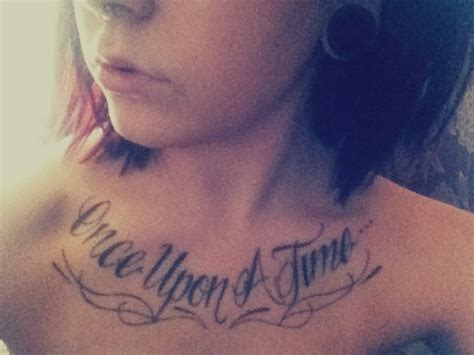 once upon a time tattoo quot once upon a time quot chest by andy walker shop