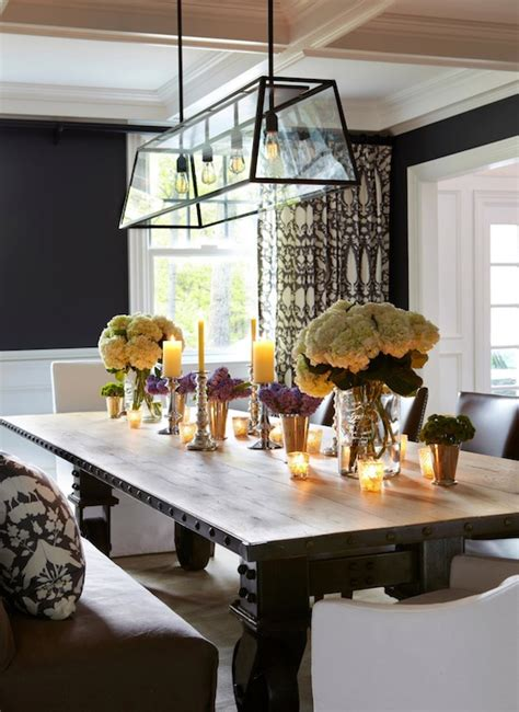 Industrial Dining Table   Transitional   dining room