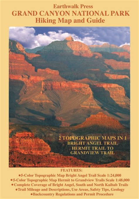 grand map and guide grand national park hiking map and guide