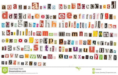 kranten layout word het alfabet van de krant kleine letters stock