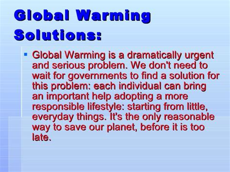Global Warming Problem Solution Essay by Problem And Solution Essay On Globa
